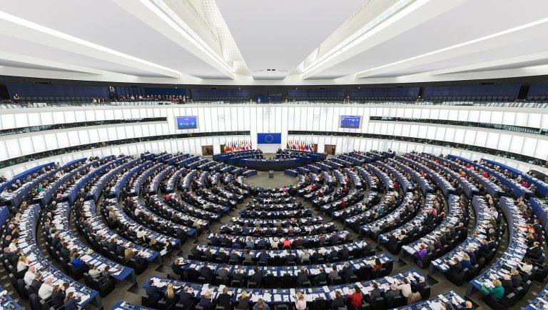Plenario del parlamento Europeo.